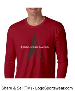 Next Level Mens Long-Sleeve Cotton Crew - Slim Fit Design Zoom